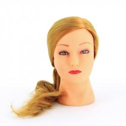 """Голова-манекен учебная """"блондинка"""" для парикмахеров DEWAL FI-2021L-408"""