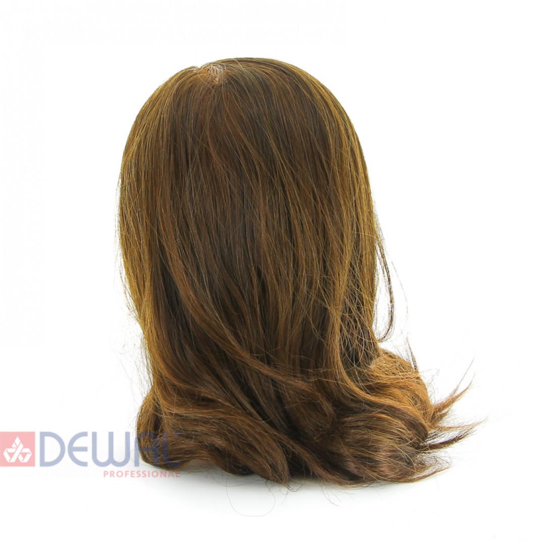 "Голова-манекен учебная ""шатенка"" для парикмахеров DEWAL FI-2022M-6"