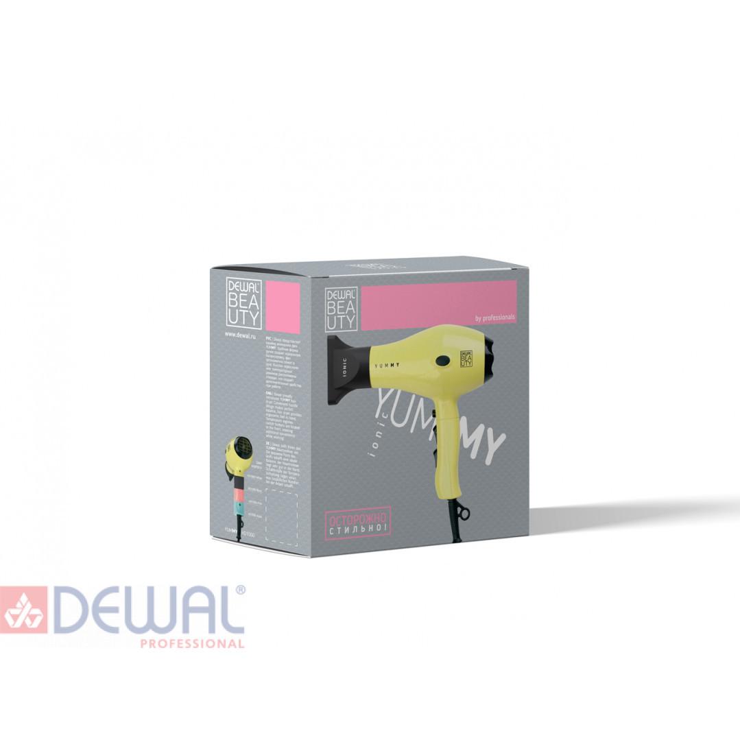 Фен 2000 Вт YumMy Yellow DEWAL BEAUTY HD1000-Yellow