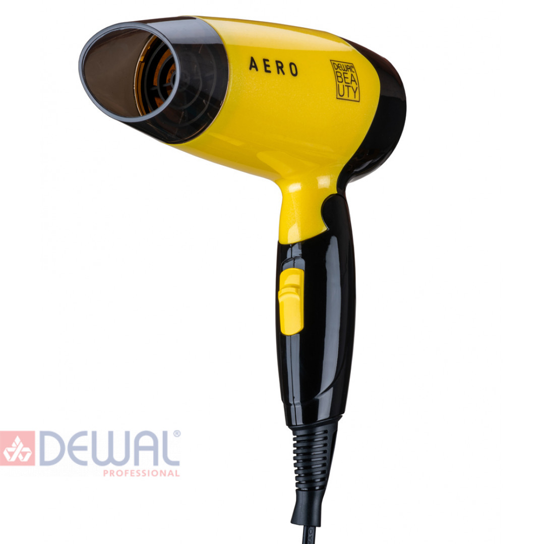 Фен дорожный Aero Yellow DEWAL BEAUTY HD1002-Yellow