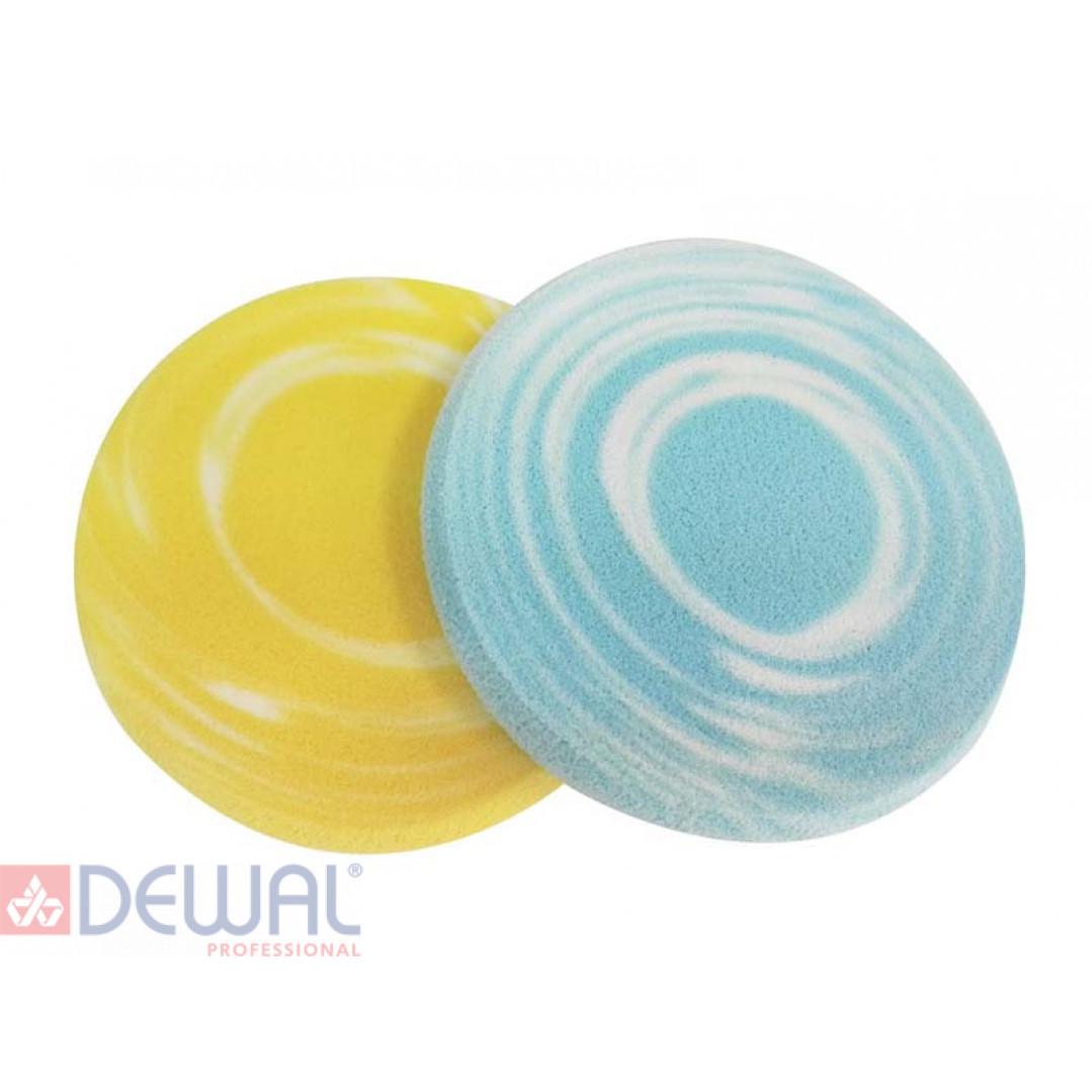 Губка для нанесения макияжа круглая (2 шт) DEWAL BEAUTY HM-558Y