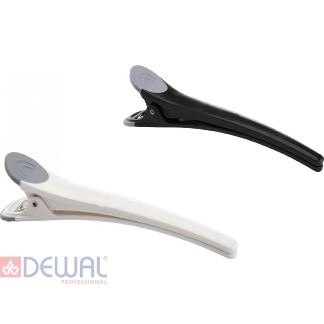 Зажим пластмассовый с резиновой вставкой, 11см (6 шт.) DEWAL JB0028