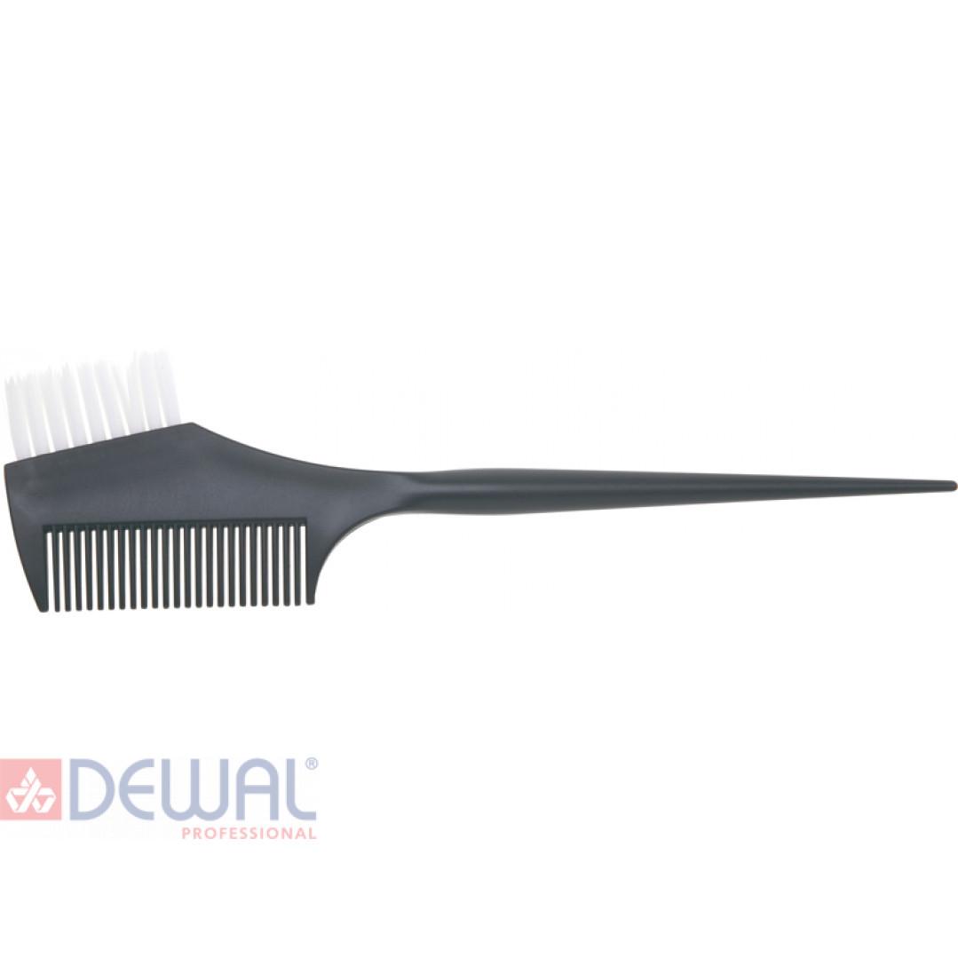 Кисть для окрашивания волос с расческой DEWAL JPP049-1 black