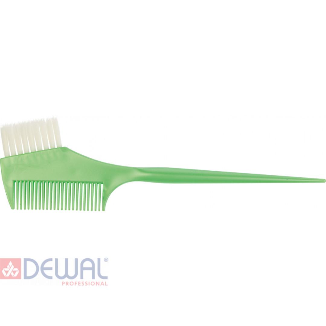 Кисть для окрашивания волос с расческой DEWAL JPP049-1 green