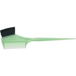Кисть для окрашивания волос с расческой DEWAL JPP049 green