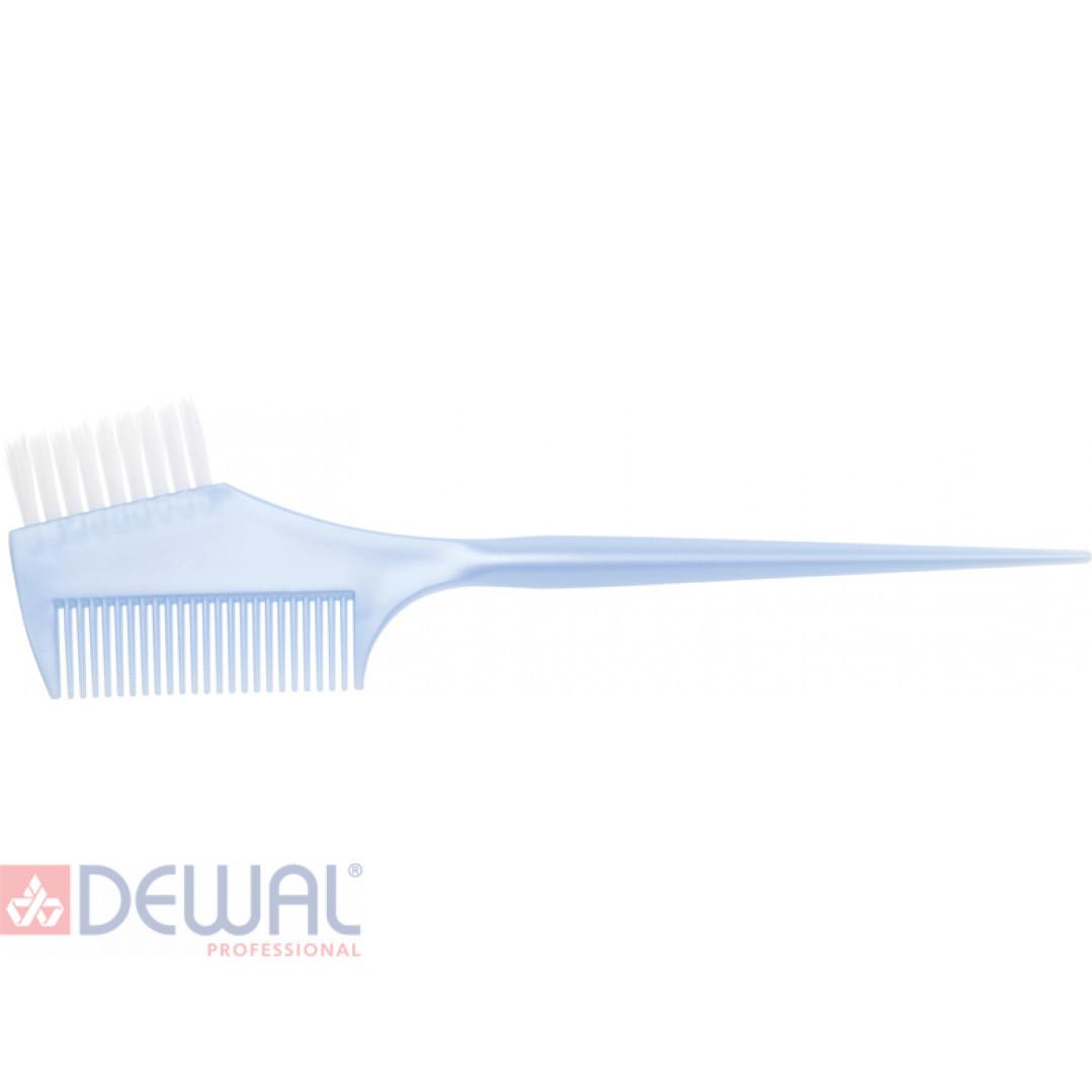 Кисть для окрашивания волос с расческой DEWAL JPP049D-1 blue