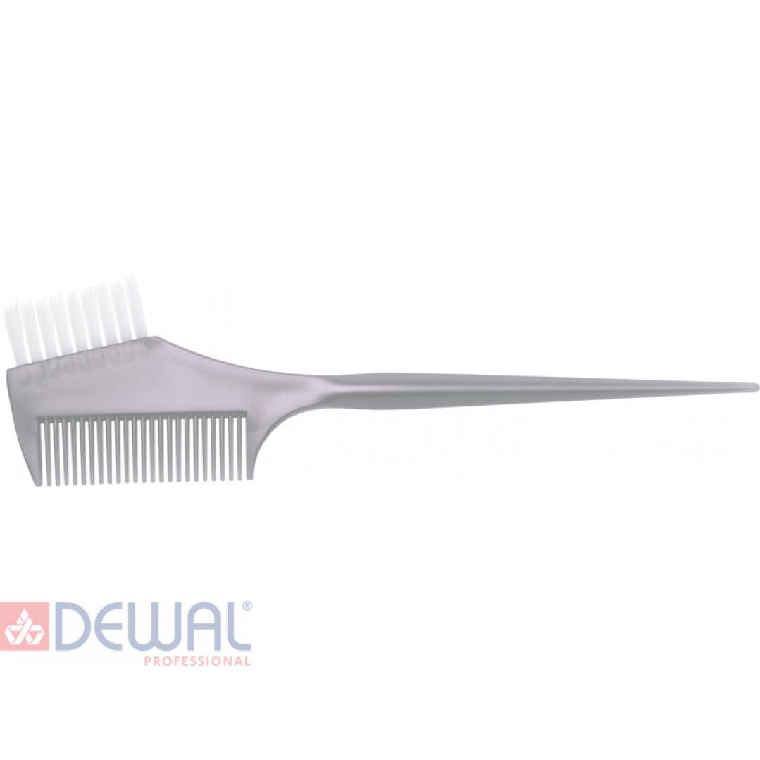 Кисть для окрашивания волос с расческой DEWAL JPP049M-1 grey