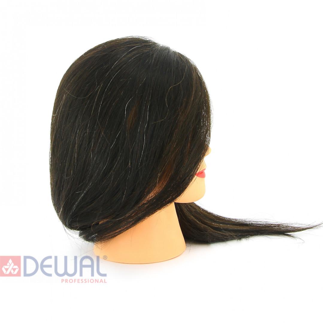 "Голова-манекен учебная ""брюнетка"" для парикмахеров DEWAL M-2023M-401"