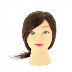 Голова-манекен учебная шатенка для парикмахеров DEWAL M-2023M-6