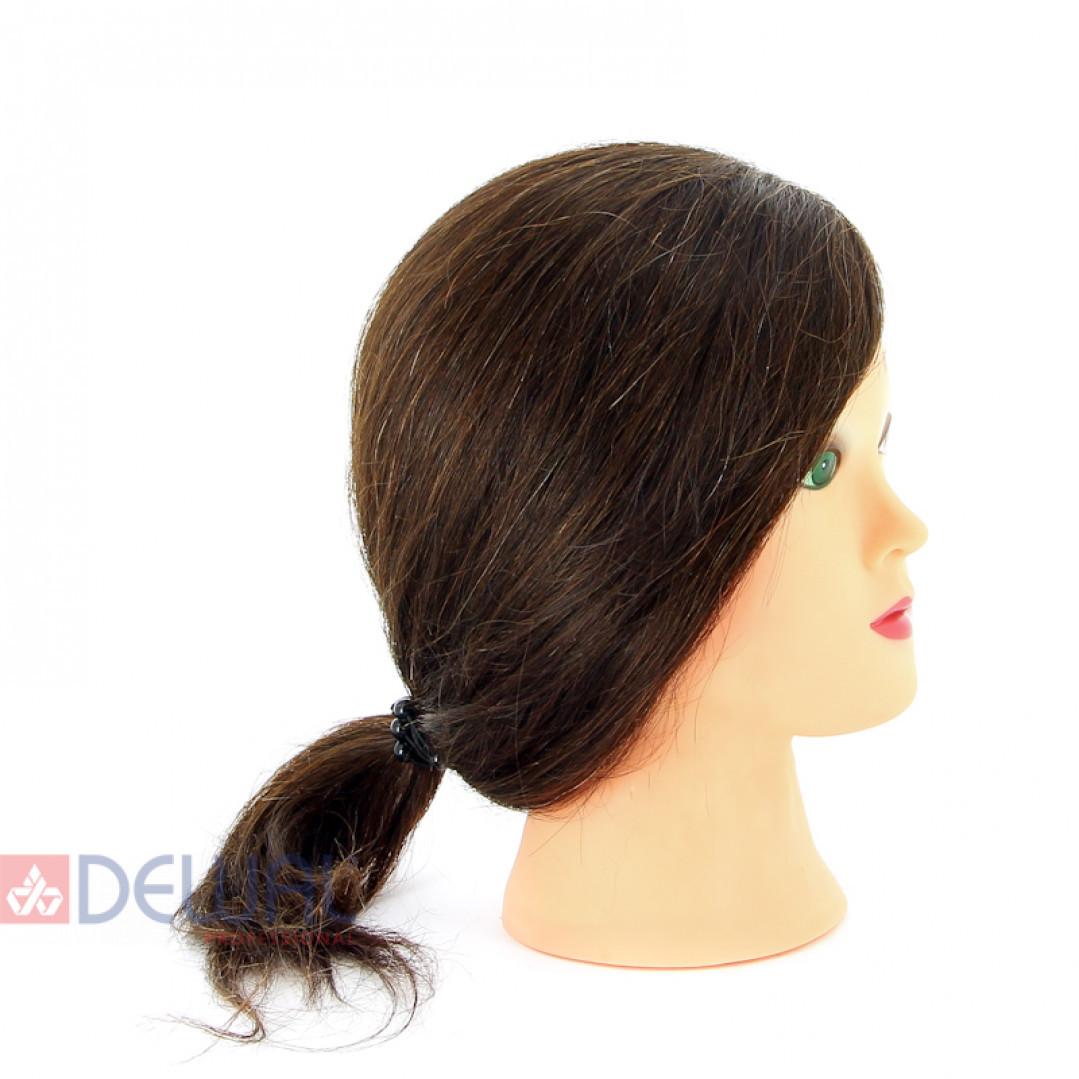 "Голова-манекен учебная ""шатенка"" для парикмахеров DEWAL M-2023M-6"
