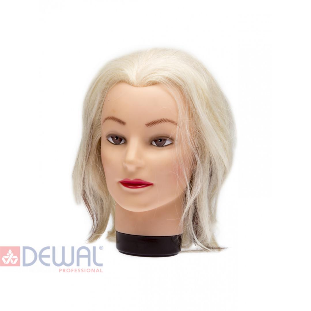 """Голова-манекен учебная """"блондинка"""" для парикмахеров DEWAL M-4151K"""