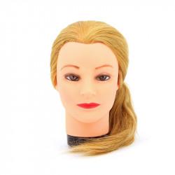 Голова-манекен учебная блондинка для парикмахеров DEWAL M-4151L-408