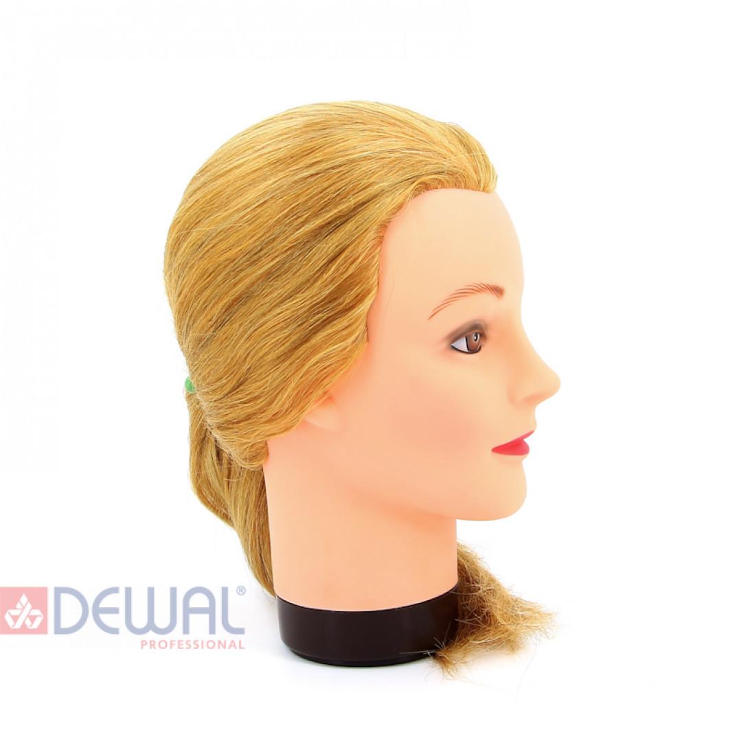"""Голова-манекен учебная """"блондинка"""" для парикмахеров DEWAL M-4151L-408"""