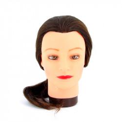 Голова-манекен учебная шатенка для парикмахеров DEWAL M-4151L-6