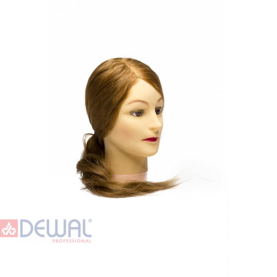 """Голова-манекен учебная """"блондинка"""" для парикмахеров DEWAL M-4151XL-407"""