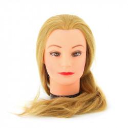 Голова-манекен учебная блондинка для парикмахеров DEWAL M-4151XL-408