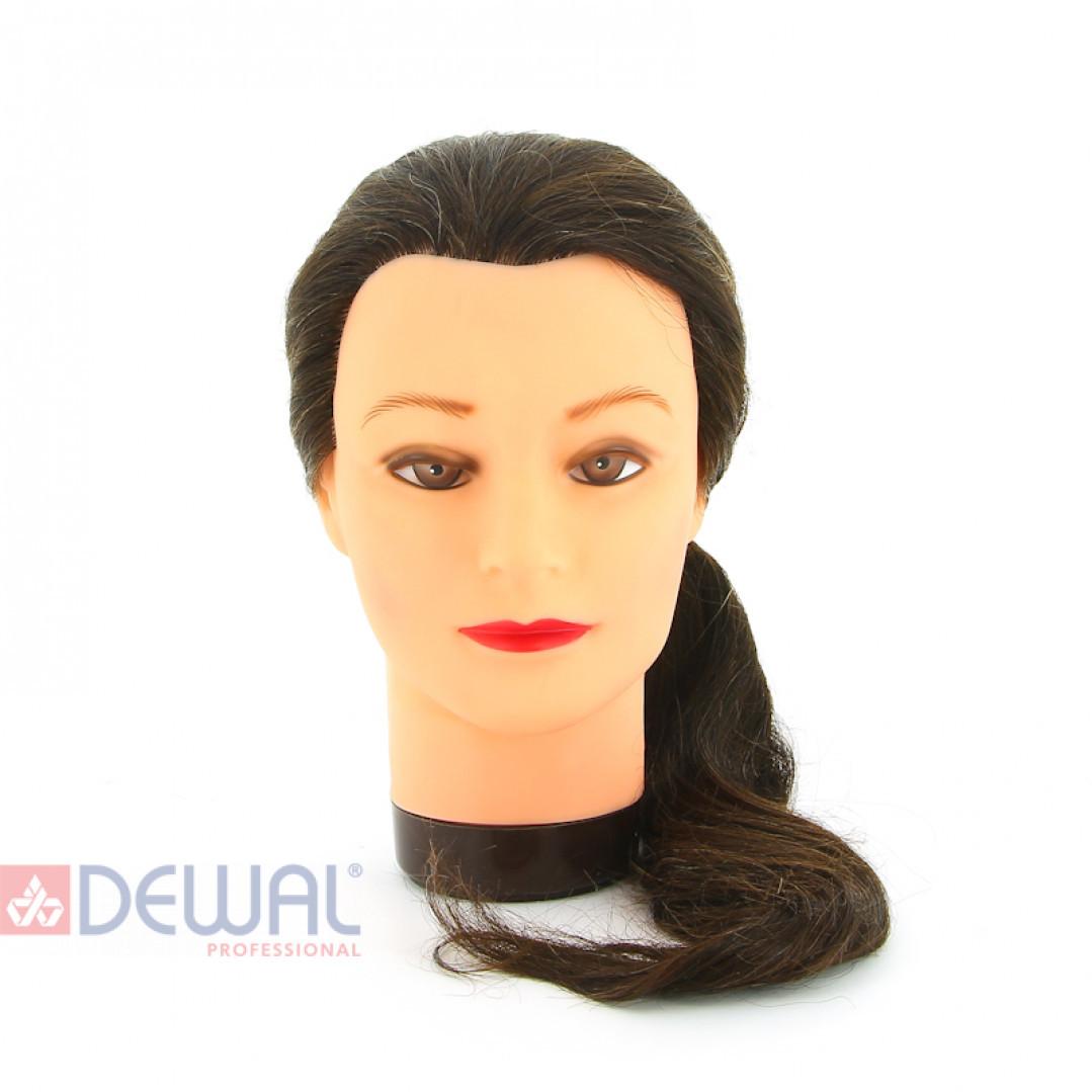 "Голова-манекен учебная ""шатенка"" для парикмахеров DEWAL M-4151XL-6"