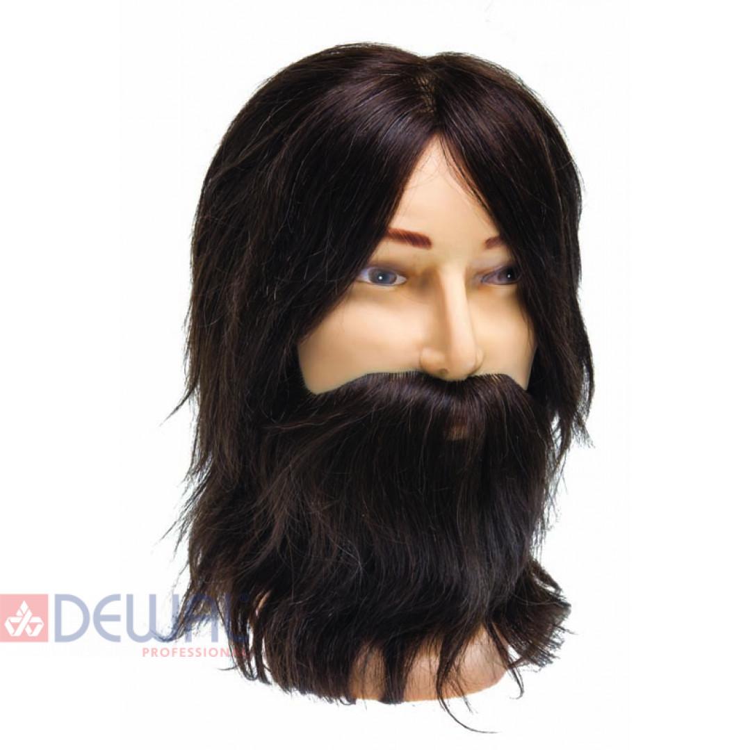 "Голова-манекен учебная мужская ""шатен"" для парикмахеров DEWAL M-880BD-6"