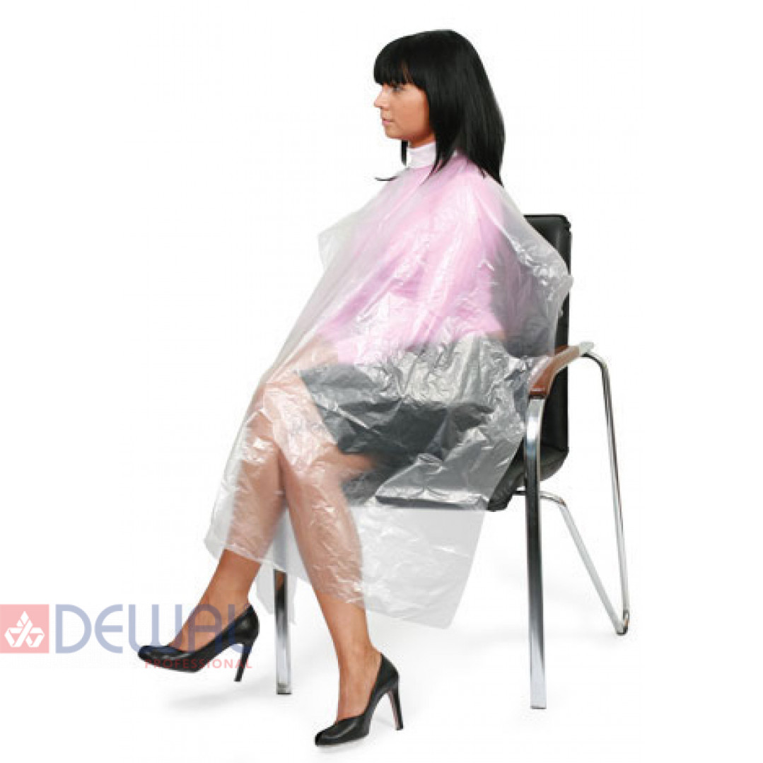 Пеньюар одноразовый прозрачный 115 х 153 мм (50 шт) DEWAL ME0007