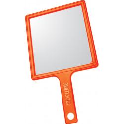 Зеркало заднего вида оранжевое с ручкой (21,5 х 23,5 см) DEWAL MR-051