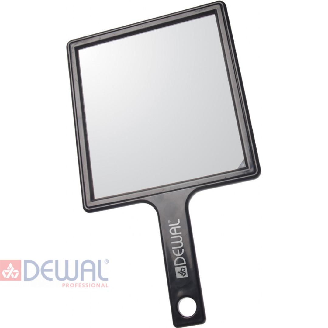 Зеркало заднего вида черное с ручкой (21,5 х 23,5 см) DEWAL MR-052