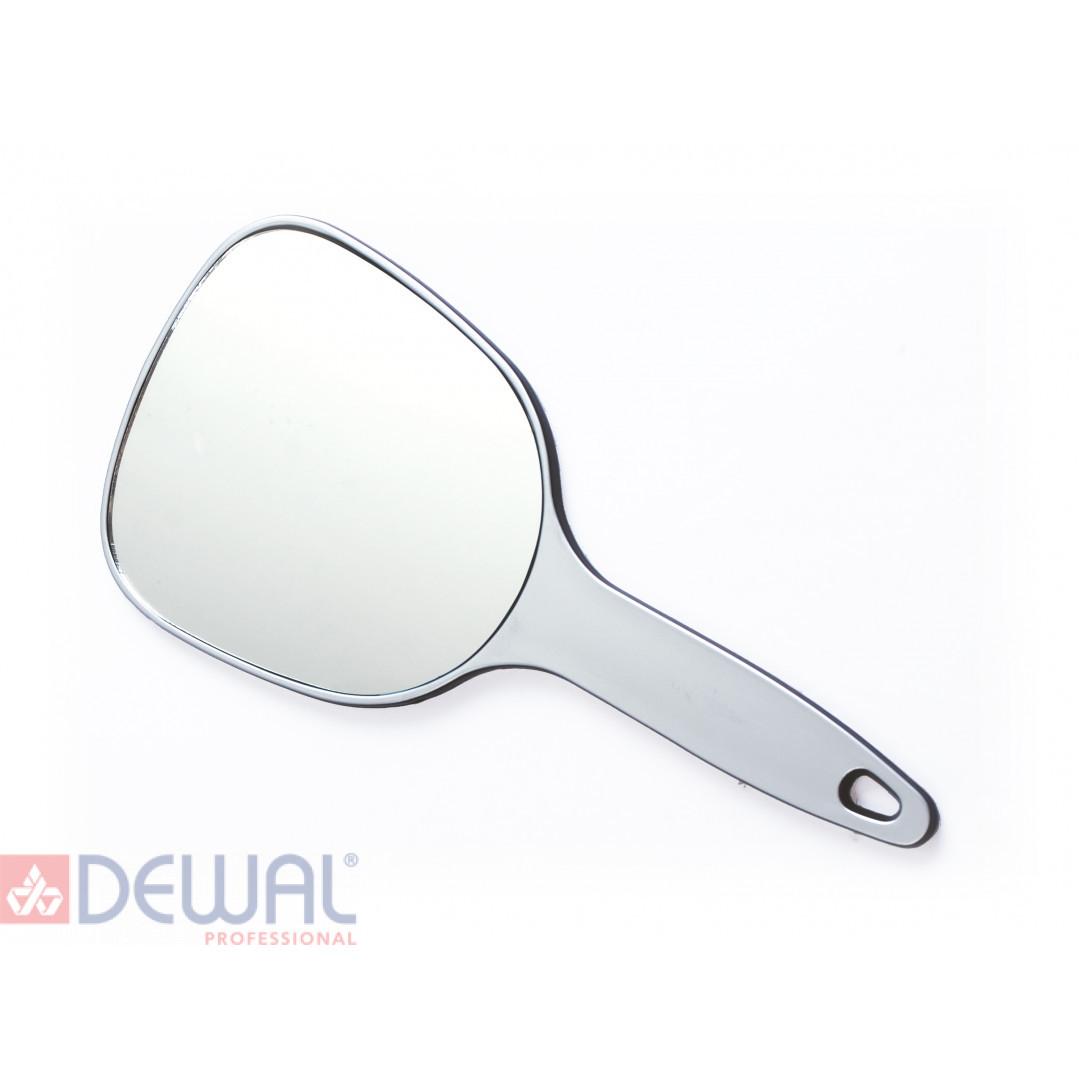 Зеркало косметическое серебристое с ручкой (12 х 15 см) DEWAL MR-9M17