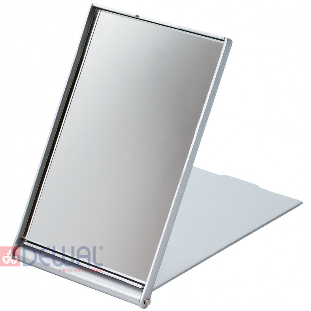Зеркало косметическое серебристое складное (7,5 х 5 см) DEWAL MR-9M404