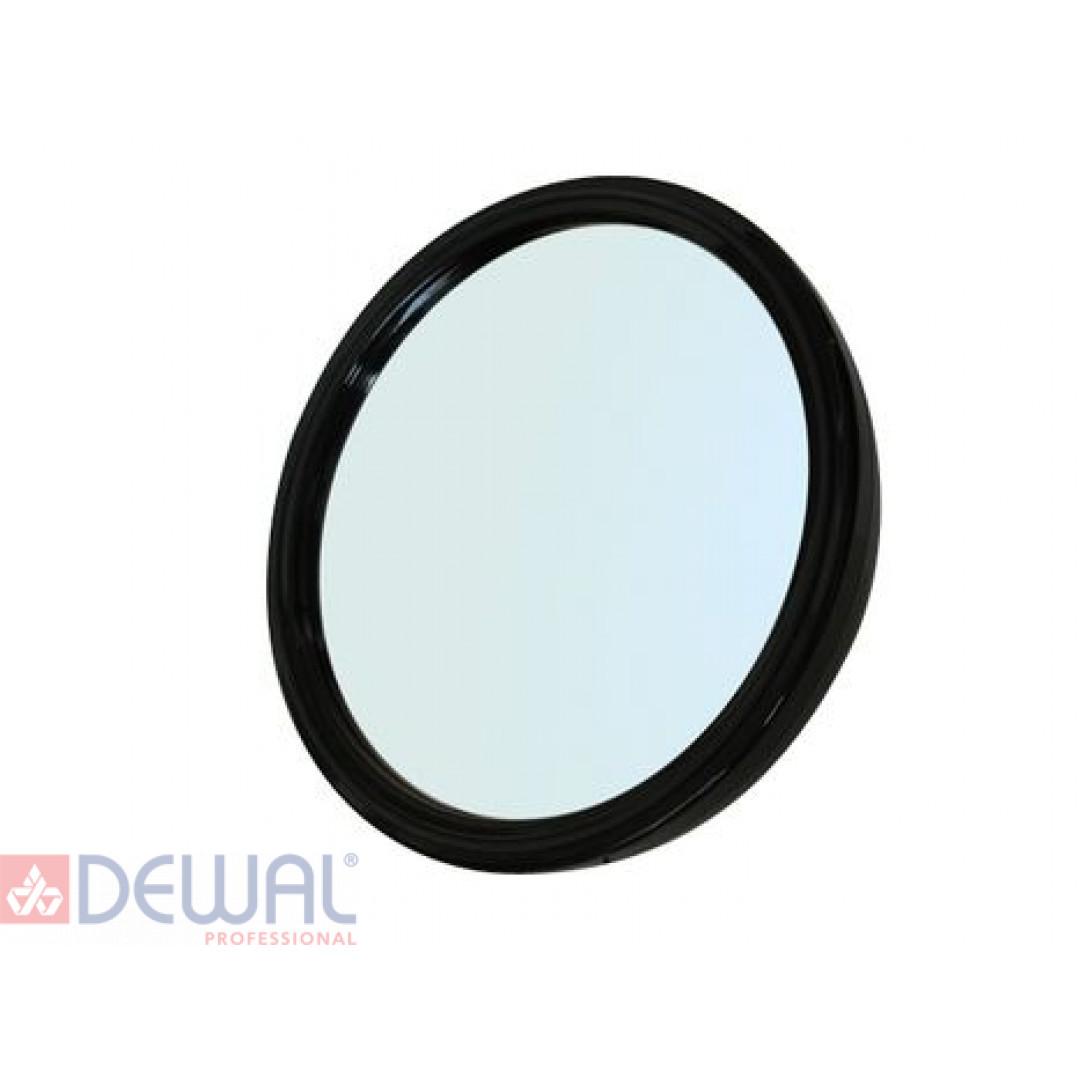 Зеркало заднего вида черное с ручкой (d 23см) DEWAL MR-9M45