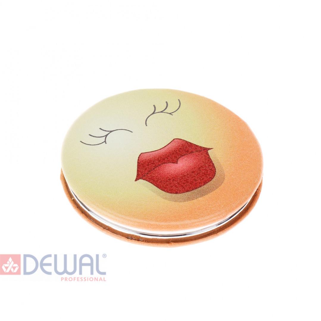 """Зеркало карманное круглое """"Смайлики"""" DEWAL BEAUTY MR23"""
