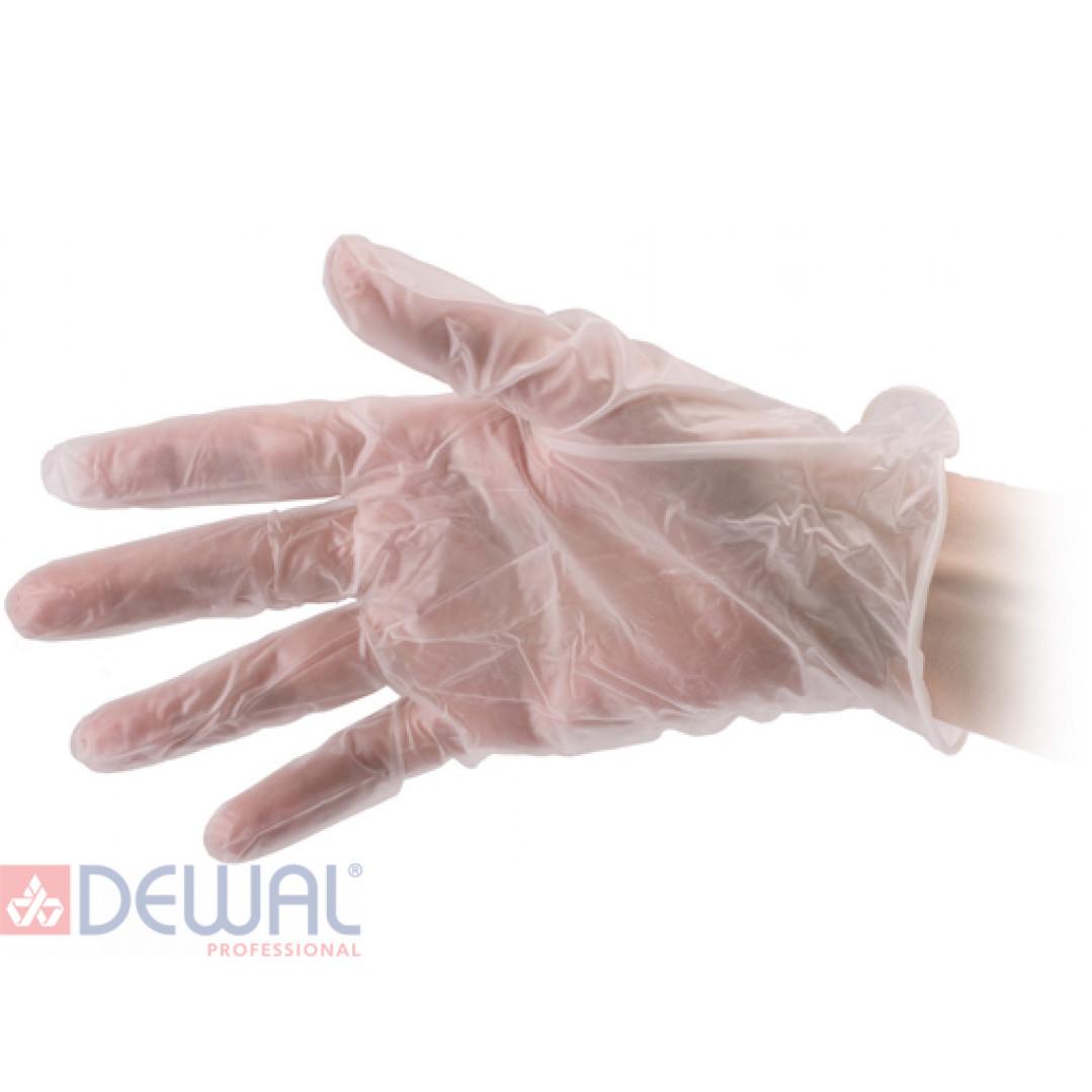 Перчатки винил 100 шт., L DEWAL MV0003-L