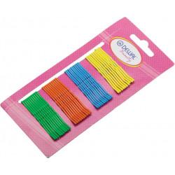 Невидимки цветные 50 мм (40 шт) цветные DEWAL BEAUTY N-40MIX COLOR