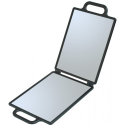 Зеркало заднего вида черное складное, с двумя ручками (23 х 30 см) DEWAL NB00035
