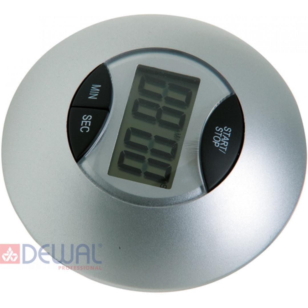Таймер электронный круглый серебристый DEWAL NTM005