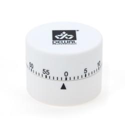 Таймер DEWAL, механический, круглый, белый 4,5х6см