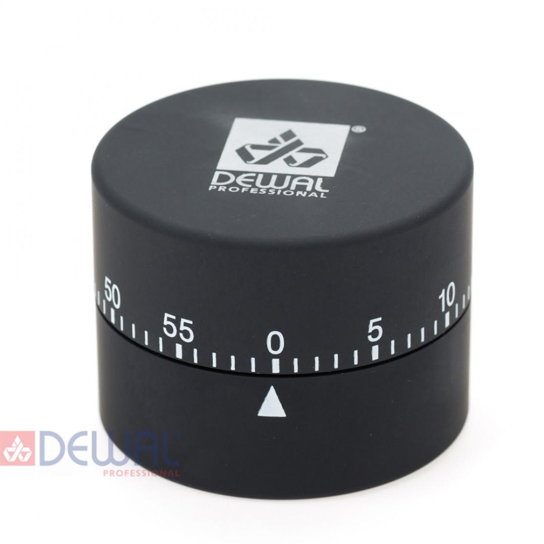 Таймер DEWAL, механический, круглый, черный 4,5х6см