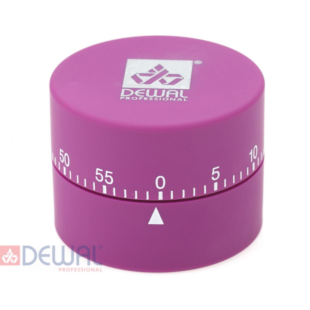 Таймер DEWAL, механический, круглый, фиолетовый 4,5х6см