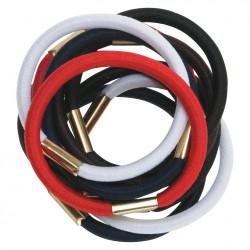 Резинки для волос цветные, maxi (10 шт) DEWAL RE020