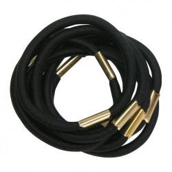 Резинки для волос черные, maxi (10 шт) DEWAL RE021