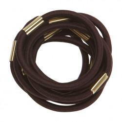 Резинки для волос коричневые, maxi (10 шт) DEWAL RE022