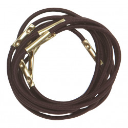 Резинки для волос коричневые, midi (10 шт) DEWAL RE025
