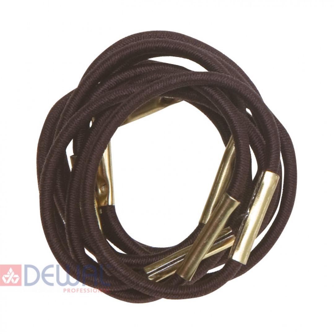 Резинки для волос коричневые, mini (10 шт) DEWAL RE028
