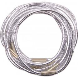 Резинки для волос серебристые, midi (10 шт) DEWAL RE041