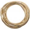 Резинки для волос золотистые, midi (10 шт) DEWAL RE042