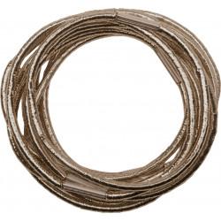 Резинки для волос коричневые, midi (10 шт) DEWAL RE043
