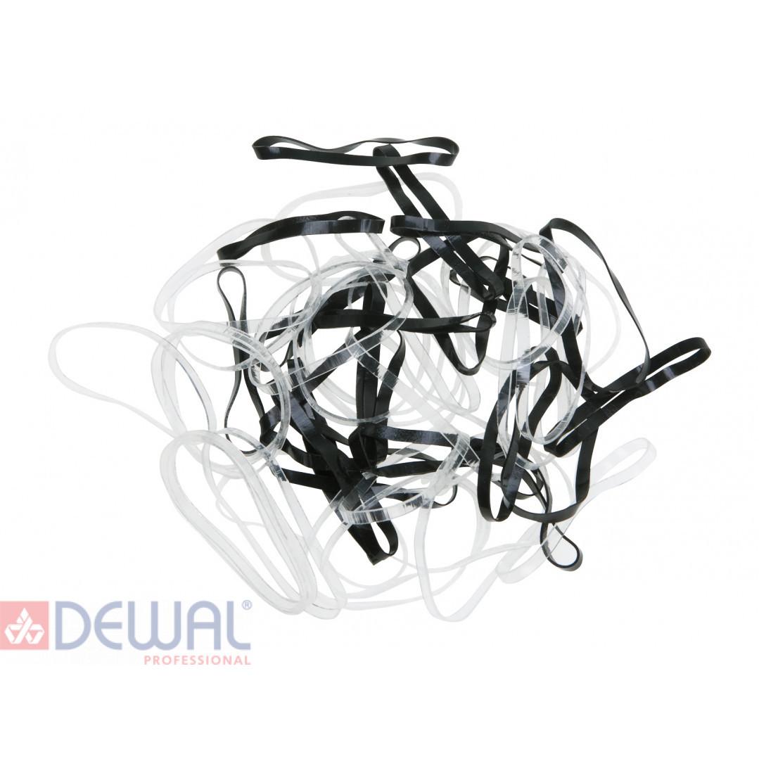 Резинки для волос силиконовые, midi (50 шт) DEWAL RES032