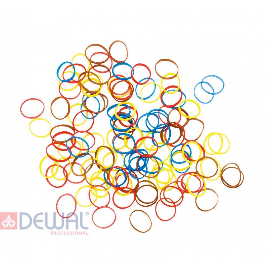 Резинки для волос силиконовые, mix mini (100 шт) DEWAL RES035