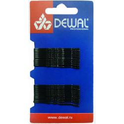 Невидимки 50 мм волна, черные (24 шт.) DEWAL SLN50V-1/24