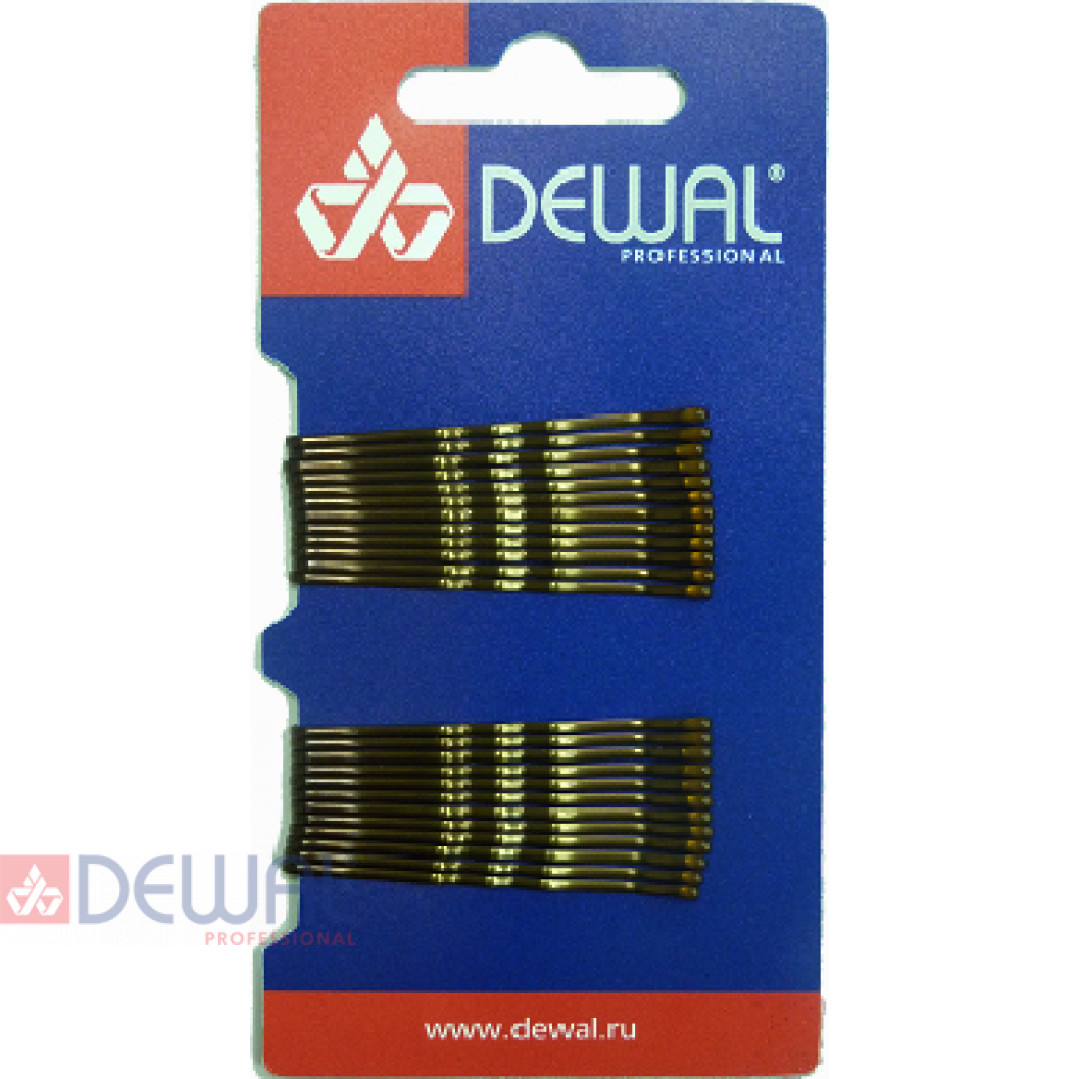Невидимки 50 мм волна, коричневые (24 шт.) DEWAL SLN50V-3/24