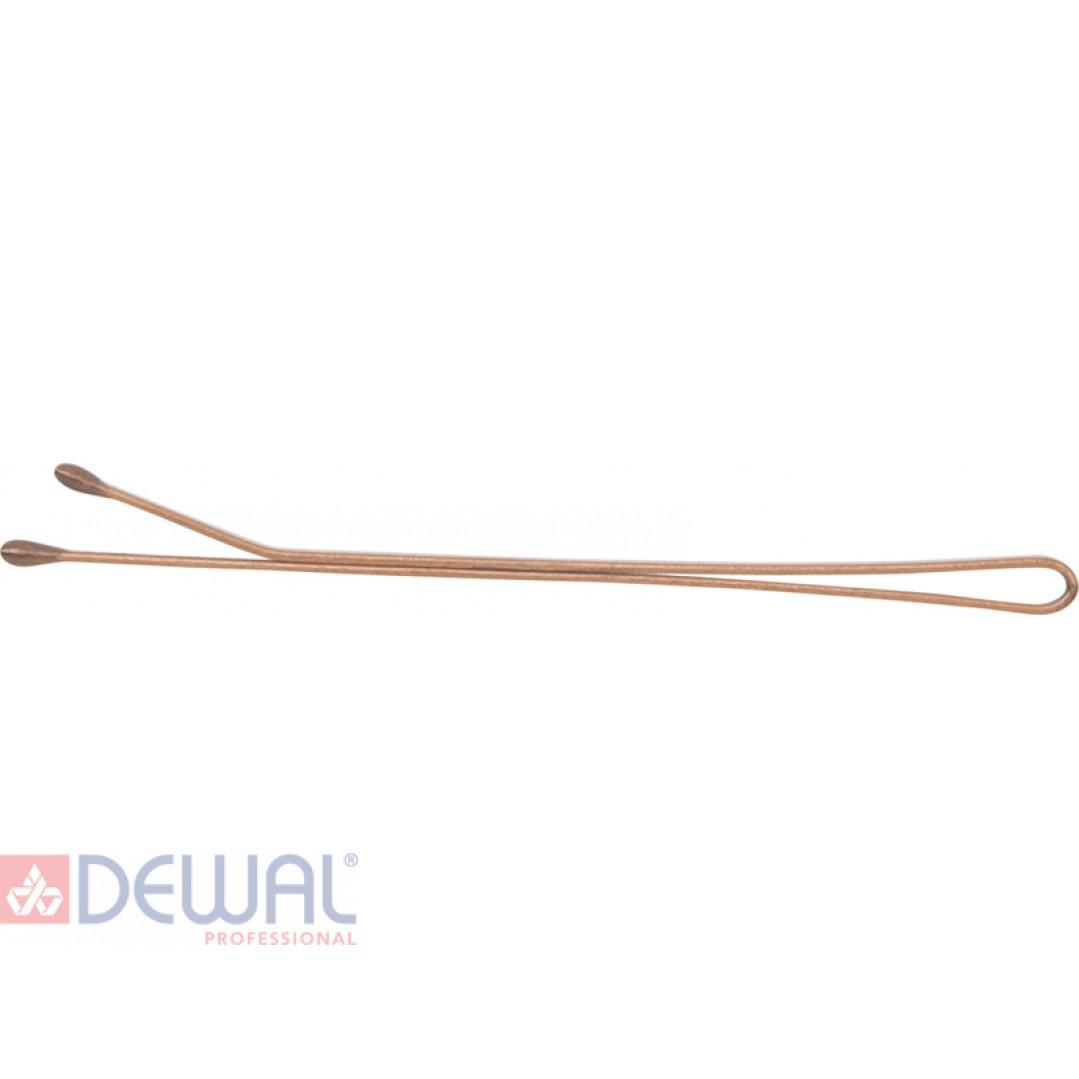 Невидимки 50 мм прямые в банке, золотистые (200 гр.) DEWAL SLN53P-1/200
