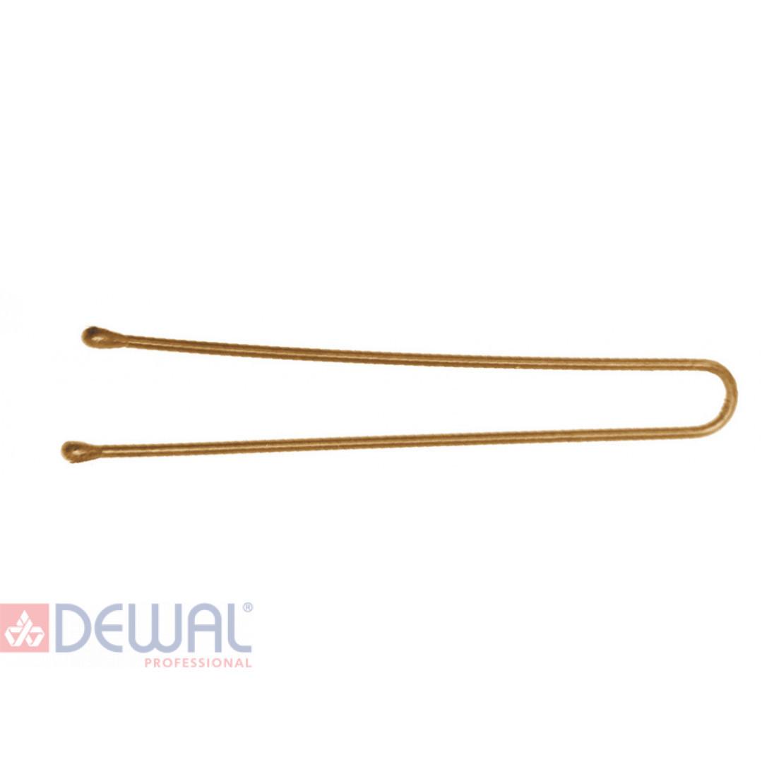 Шпильки 45 мм прямые, золотистые (60 шт.) DEWAL SLT45P-5/60